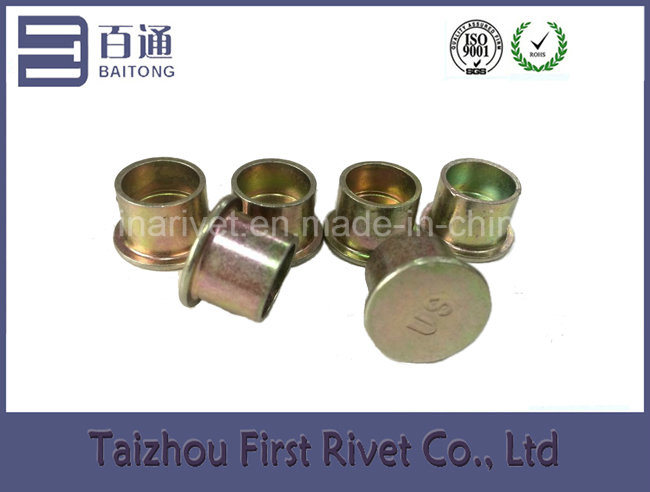 12.7X10mm Zinc Plated Flat Head Semi Tubular Steel Rivet