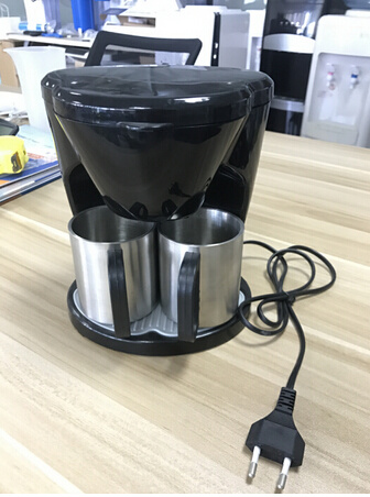 Low Price Drip Coffee Maker Electric Coffee Maker with Two Matching Cups