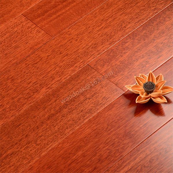 Solid Heating Hardwood Flooring Merbau Flat Wood Flooring
