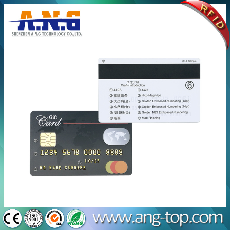Sle4428 Sle5528 Hico 3 Tracks Magstripe IC Contact Card