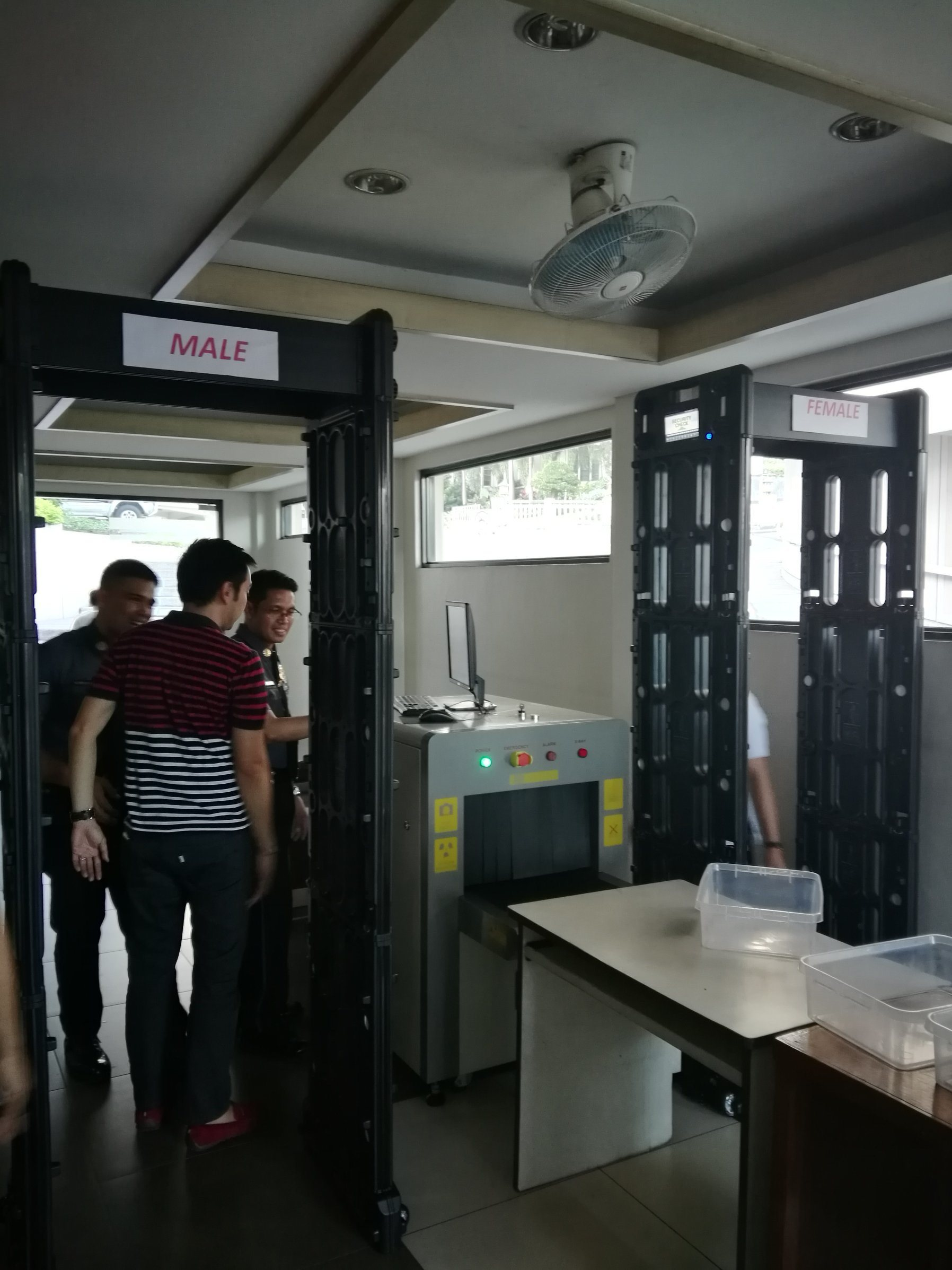 Portable Full Body Scanner Door Frame Walk Through Metal Detector