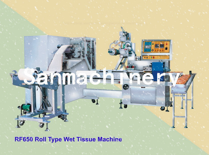 Roll Type Wet Tissue/Wet Wipes Making Machine with Ce (RF-650)