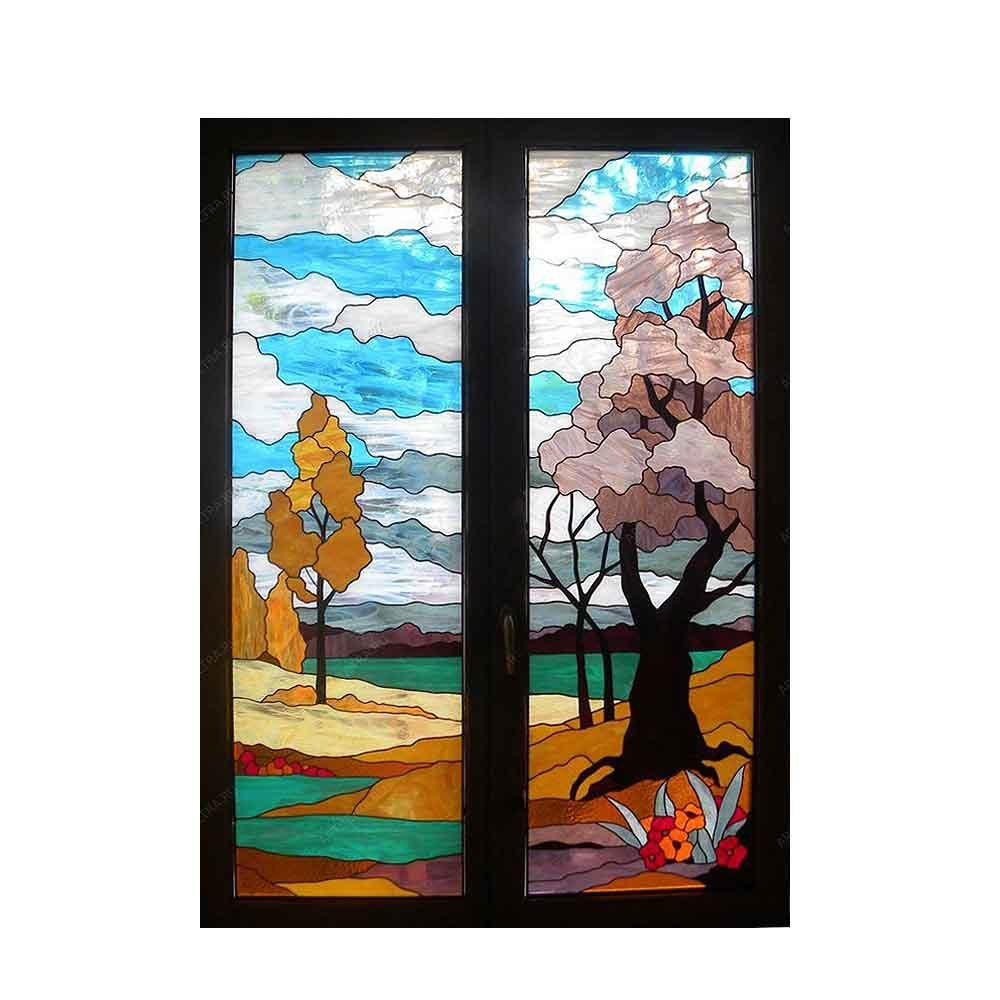 Custom Patterns Different Style Tiffany Stained Glass Decorative Window