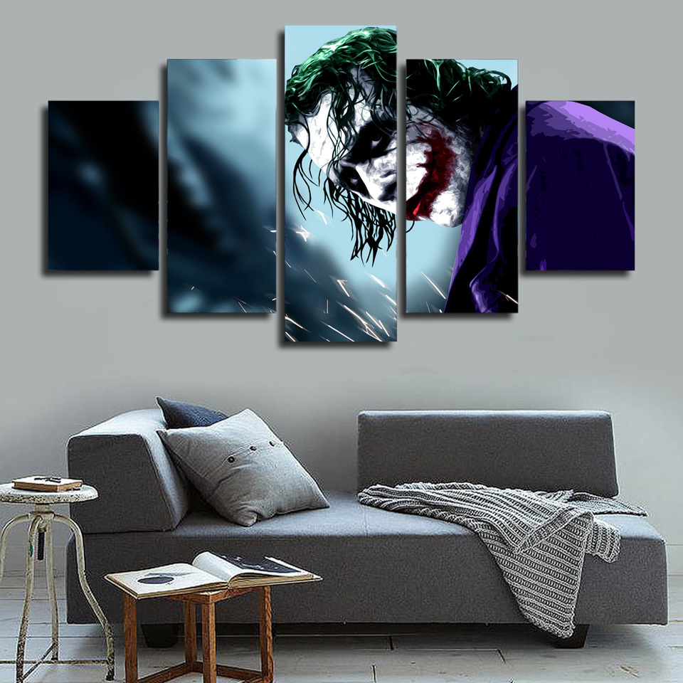 HD Printed Joker Pictures Painting Canvas Print Room Decor Print Poster Picture Canvas Mc-151
