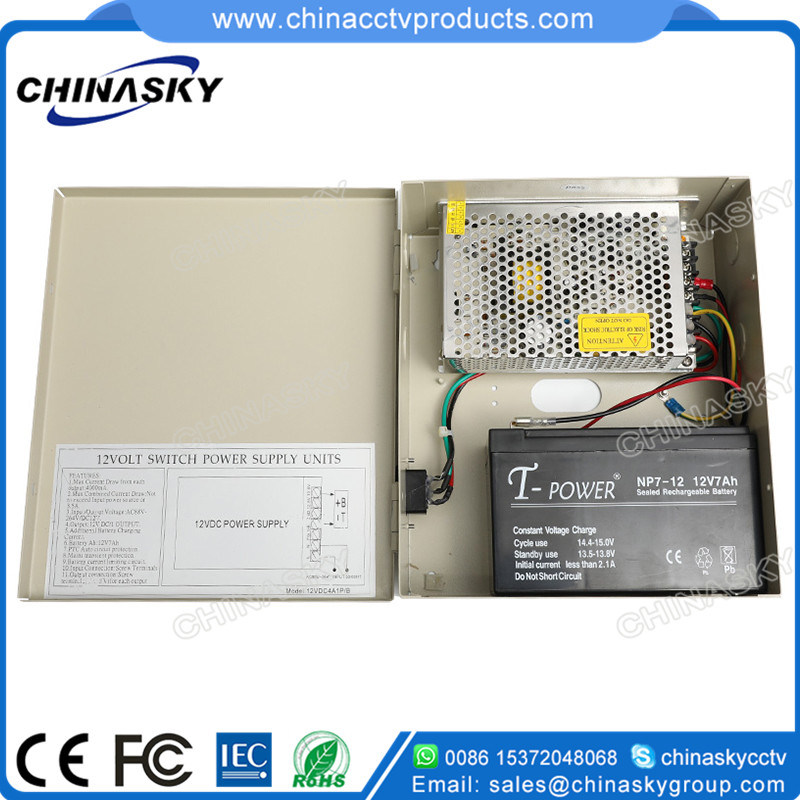 12VDC 4AMP CCTV Power Store with Battery Back-up (12VDC4A1P/B)