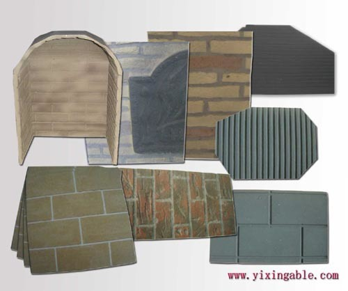 china firebrick panel for vented gas fireplace china gas log coal. Black Bedroom Furniture Sets. Home Design Ideas