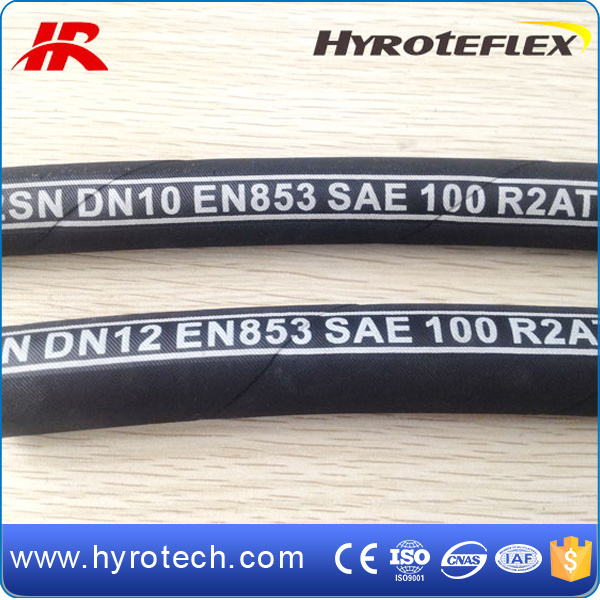 Wire Reinforced High Pressure Hydraulic Rubber Hose Pipe SAE 100r2 at/DIN En853 2sn/Mangueras