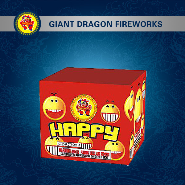 16 Shot Happy Fireworks Combination Fireworks Gdk7702b