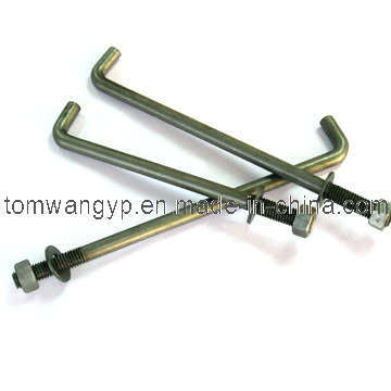 "1/2"" Anchor Bolt with Washer and Nut"