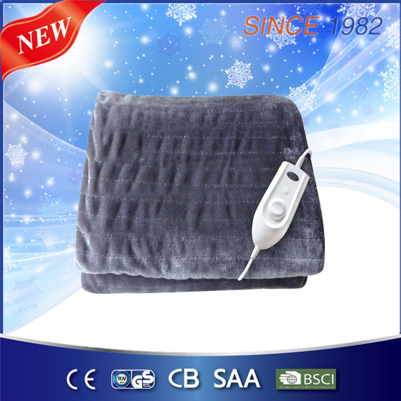 Luxury Soft Flannel Electric Over Blanket Heated Throw for Us Market