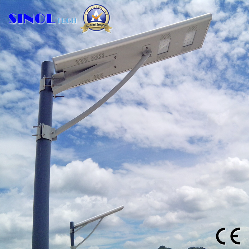 All in One 30W LED Solar Street Light for 7-8m Pole with Lithium Ion Battery Included (SNSTY-230)