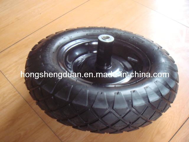 Pneumatic Rubber Wheel for Wheelbarrow to Poland Market Pneumatic Wheel 400-8