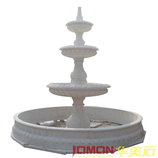 Fuente de agua de m rmol blanca del jard n xmj ft12 - Fuentes de marmol para jardin ...