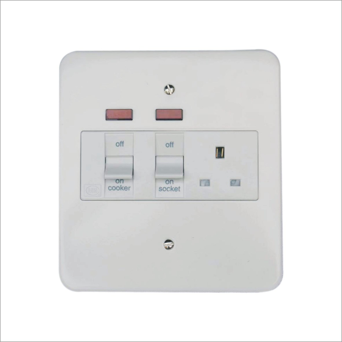 White Moulded Raised Edge Cooker Switches City Electrical Factors