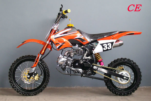china off road 125cc pit bike fy ad3 b orange china. Black Bedroom Furniture Sets. Home Design Ideas