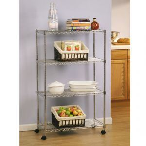 Kitchen Wire Shelving With Castors - China Kitchen Wire Shelving ...