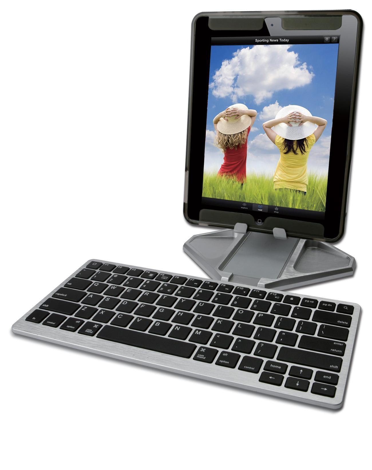 Foldable Bluetooth Aluminium Keyboard and Stand