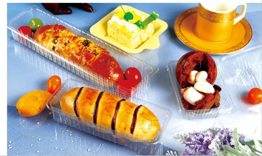 Disposable Plastic Sushi Dessert Bread Cake Box (made in China)