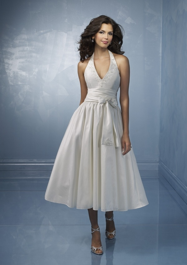 China Elegant Tea Length Wedding Dress And Wedding Gown TEAWD025