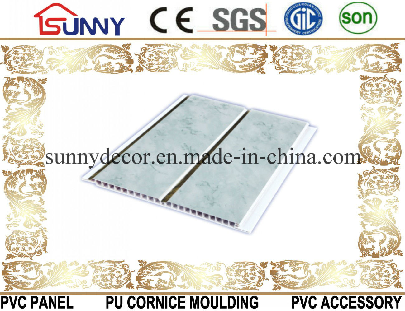 Transfer Printing PVC Panel Used for Ceiling and Wall Decoration