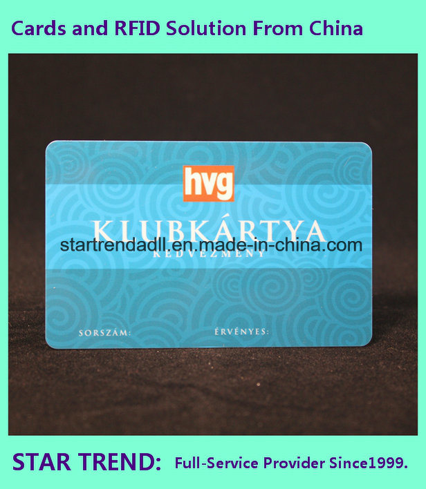 Four Color Printing Bowling Card for Athlete Member