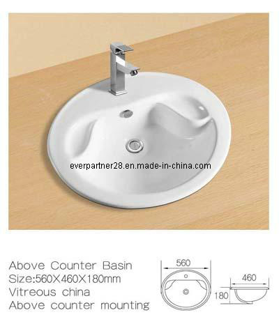 Above Counter Ceramic Washbasin, Ceramic Cabinet Basin