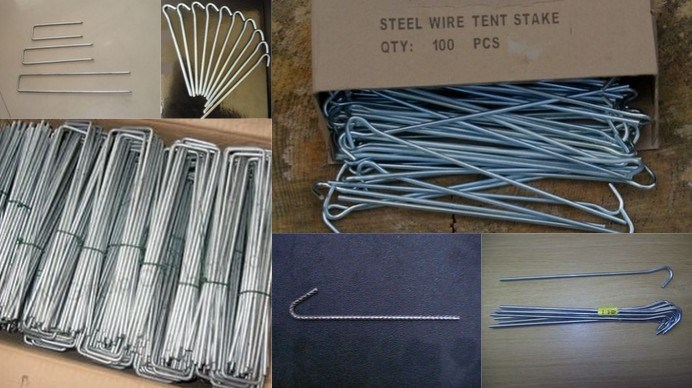 Galvanized Camping Tent Pegs