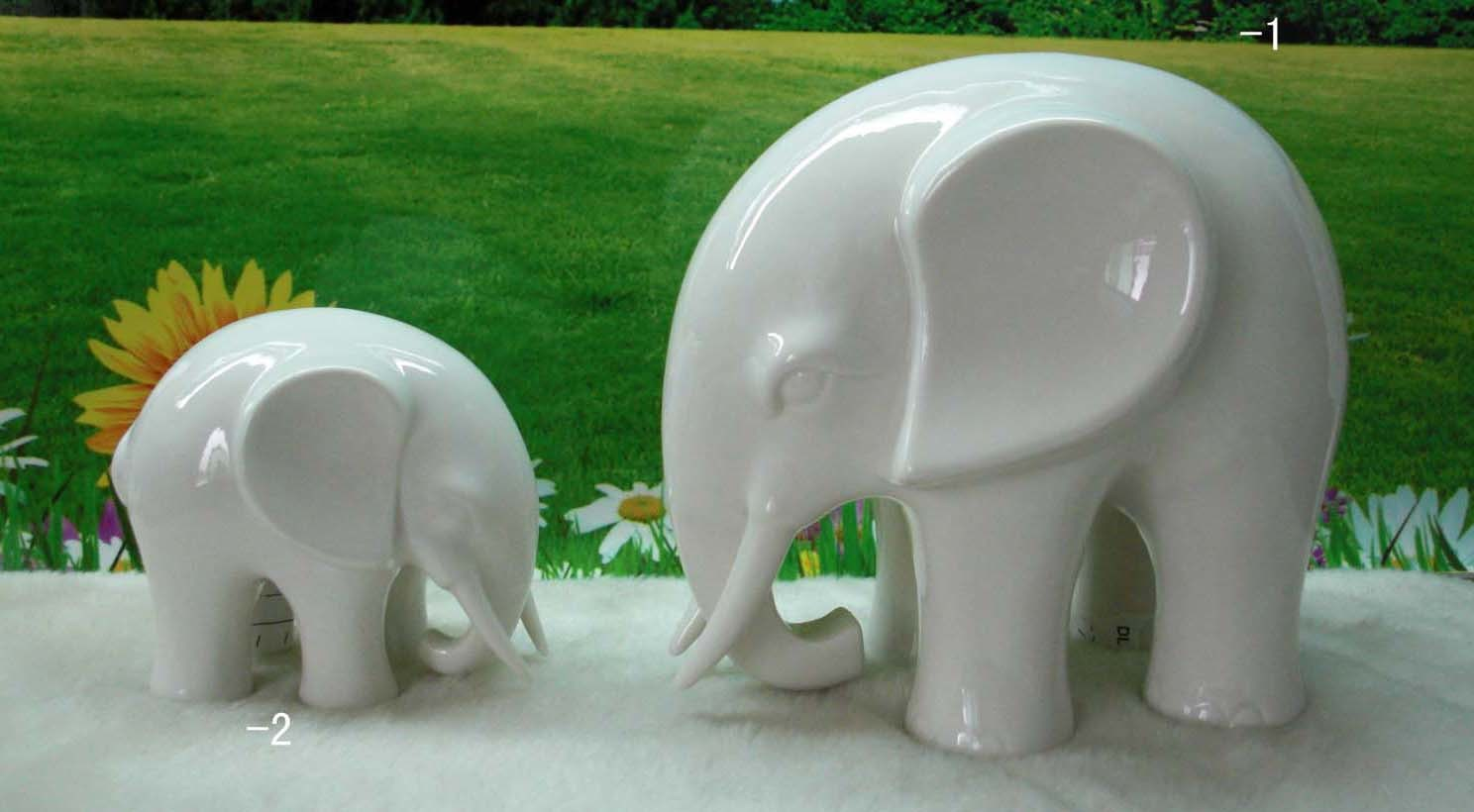China porcelain elephant decorations le40 1061 1 2 for Decoration elephant