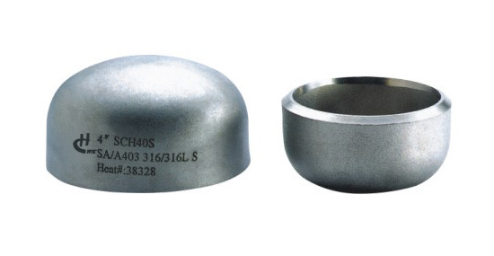 China stainless steel pipe fitting caps