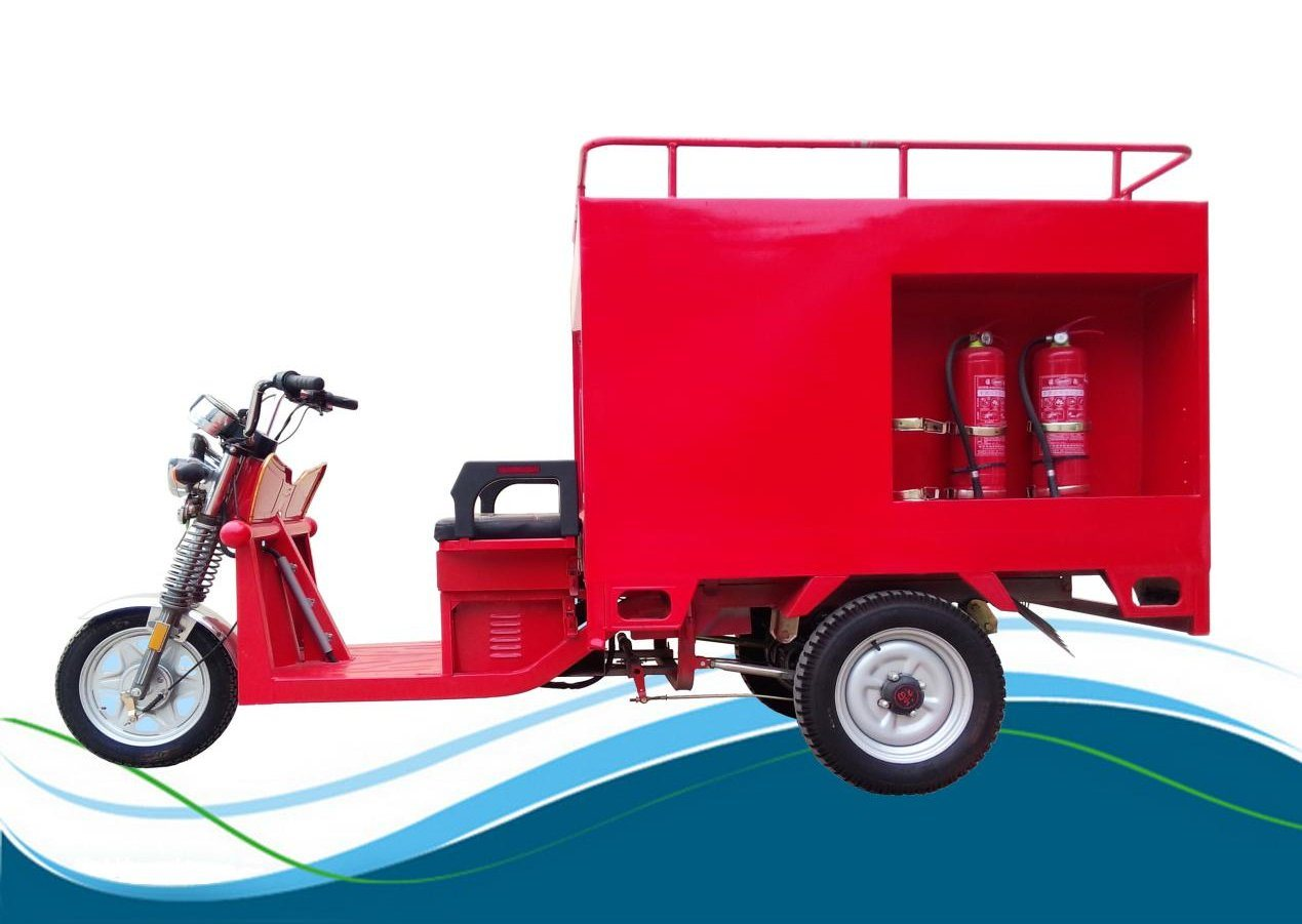 Enviornmental Four Passengers 800W Electric Tricycle for Collecting Garbage