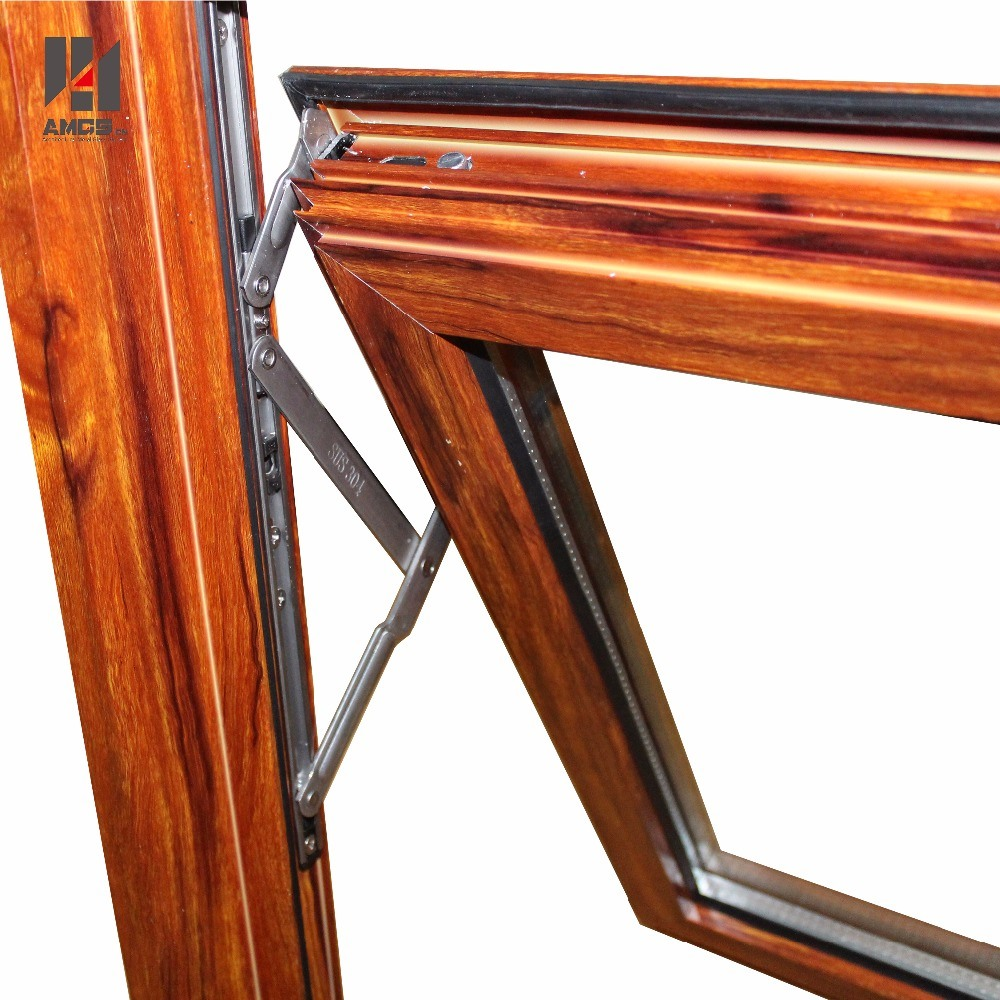 Australian Standard AS/NZS2208 Woodgrain Color Double Glass Aluminium Window Awning