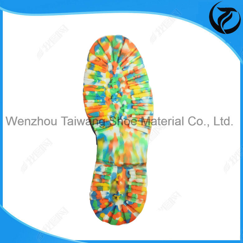 Cheap Factory Price Camouflage Mixed Colour Outdoor Shoe Soles