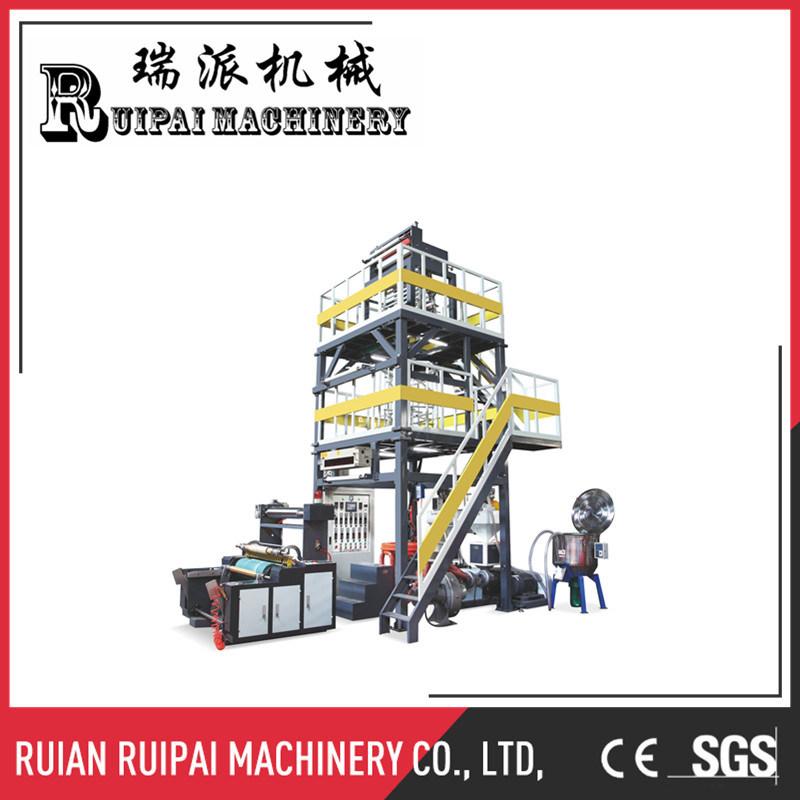 Single Rewinder Automatic PE Plastic Film Blowing Machine