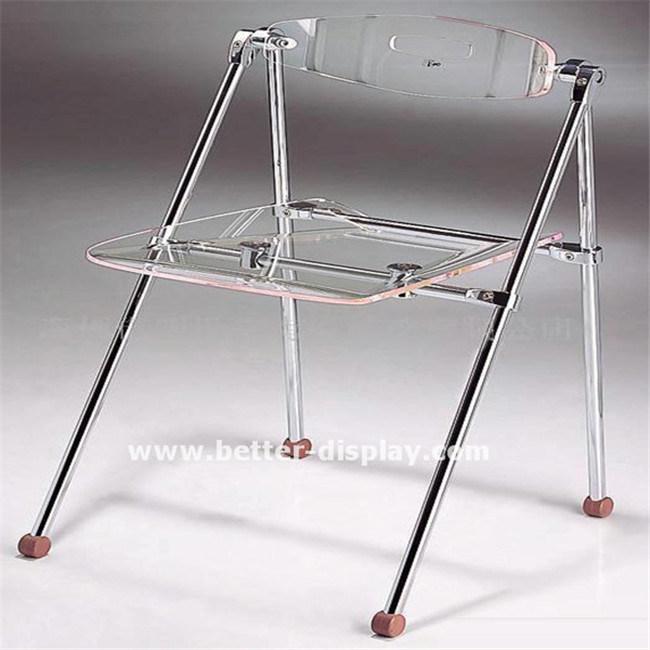 Clear Acrylic Plastic Folding Chair
