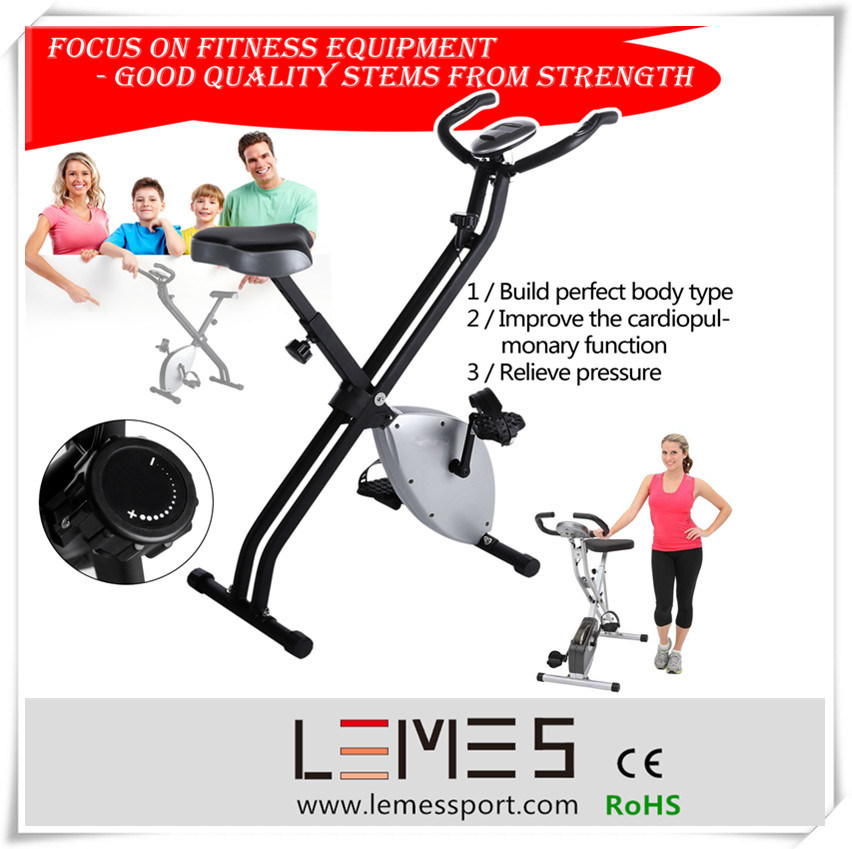 Folding Exercise Bike Magnetic Bike for Home User Spinning Bike