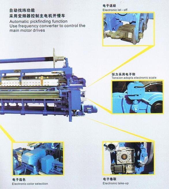 High-Speed Towel Rapier Loom Ga738-II (textile machine)