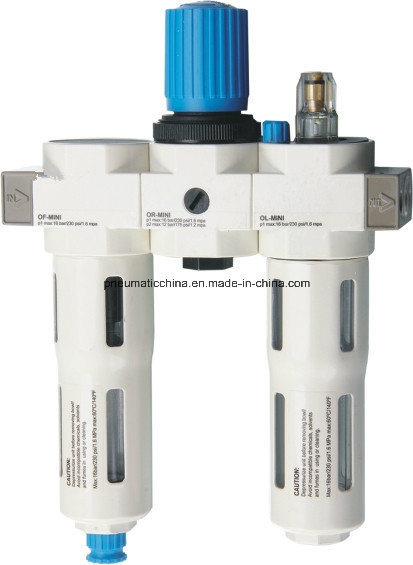 O Series Filter Regulator and Lubricator Three Units From China Pneumission