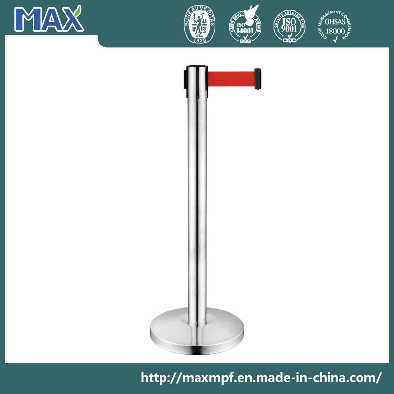 Metal Crowd Control Barrier Queue Post Management System Retractable Belt Stanchion