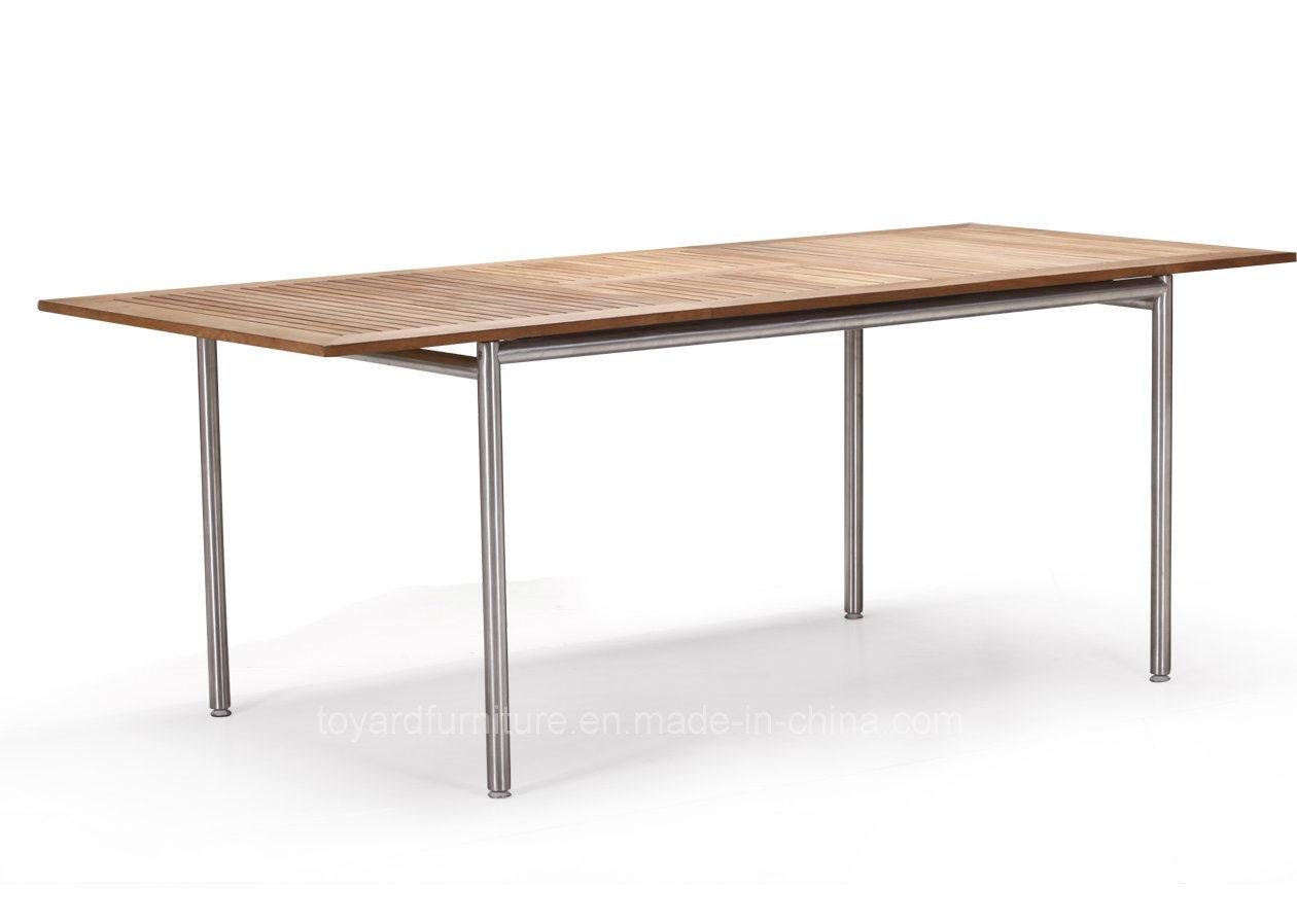 Modern European Outdoor Garden Dining Chair Fsc Teak Wooden Furniture for Hotel Backyard Patio Deck