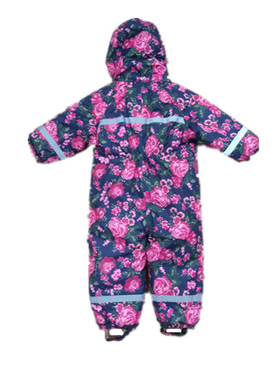 Flower Hooded Reflective Waterproof Jumpsuits