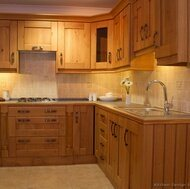 Light Wood Kitchen Cabinet (lw6)