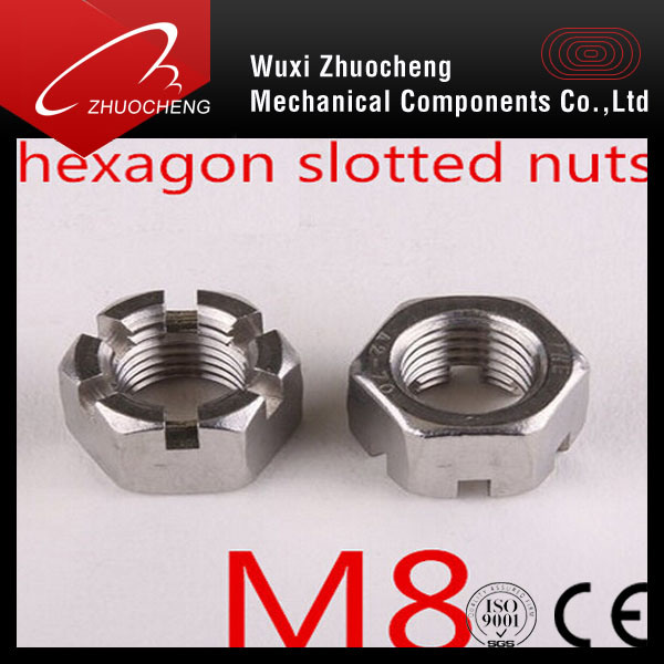 Steel Zinc Plated DIN935 DIN937 Heavy Hex Slotted Nut