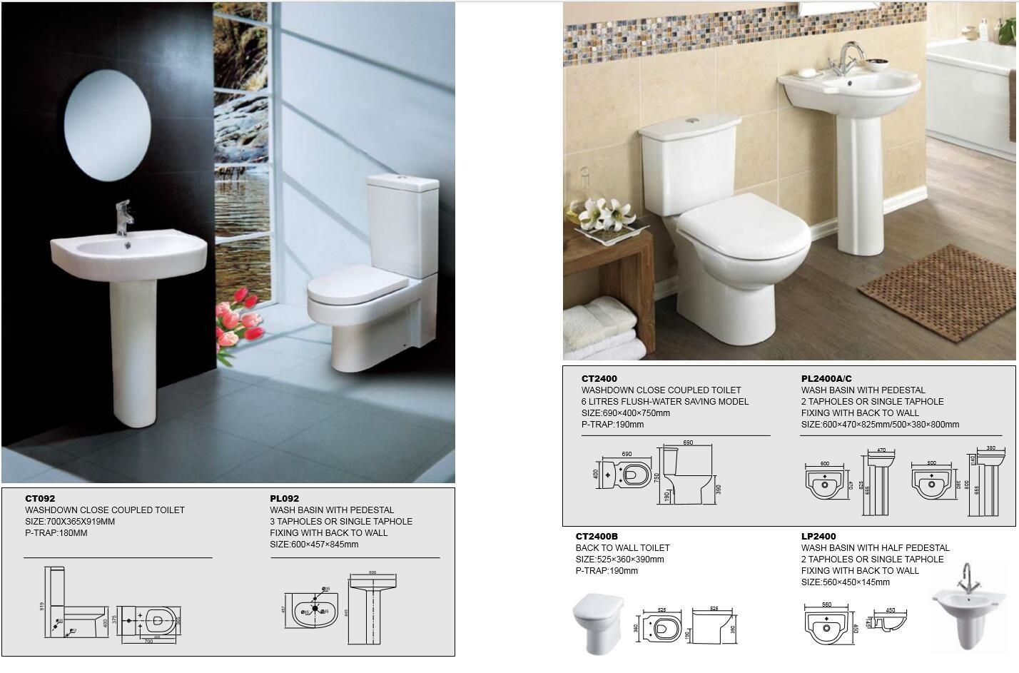 Chinese Siphonic Sanitary Ware Western Style Public Bathroom Set ...