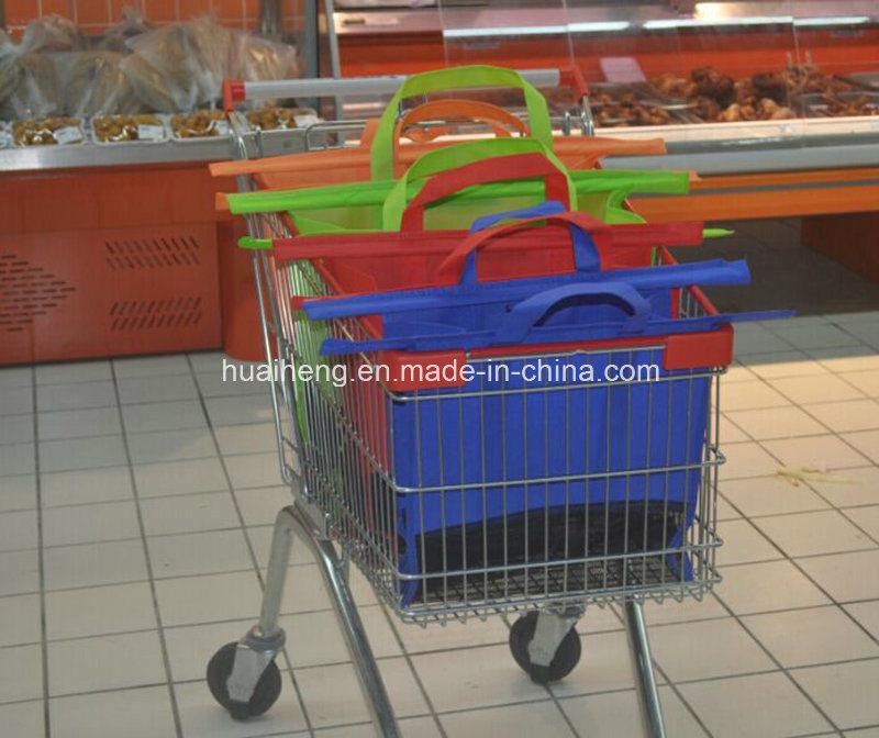 4PCS Supermarket Trolley Bag Supermarket Shopping Cart Bag
