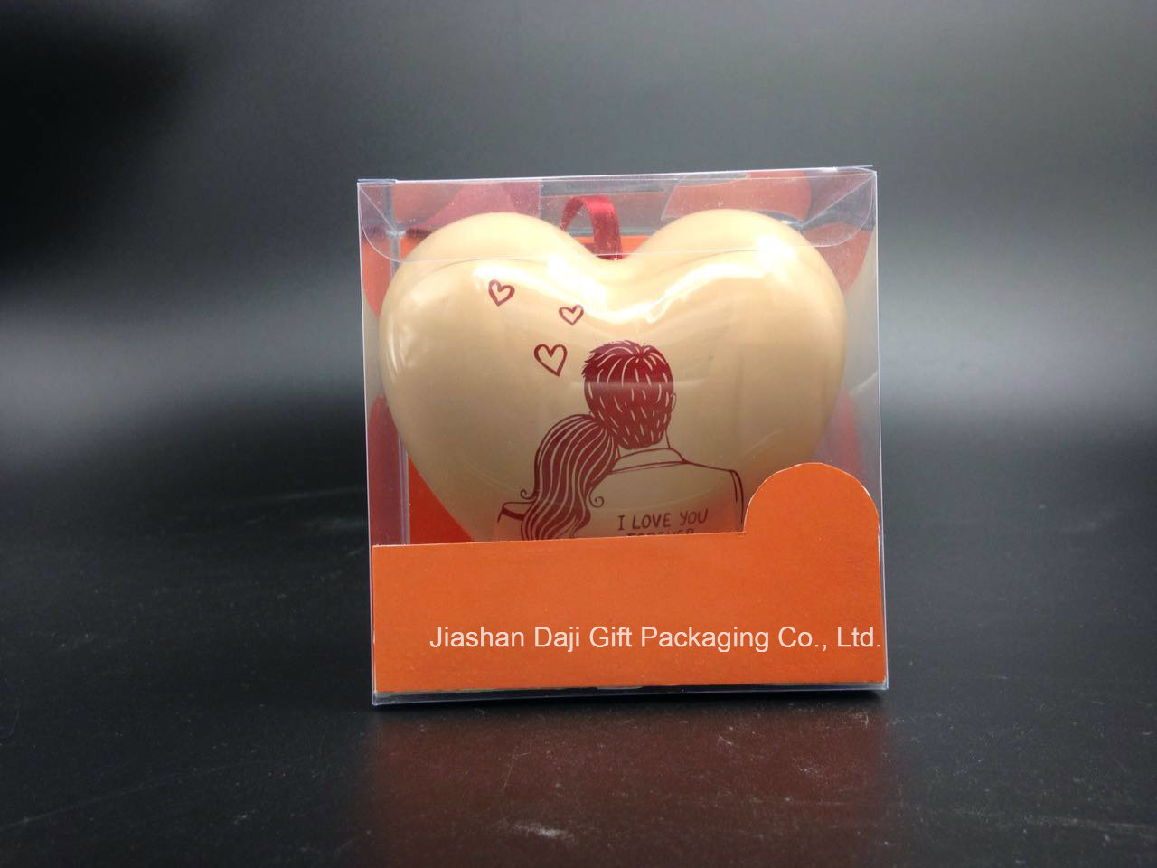 Romantic Heart-Shaped Package Tin Box for Gift