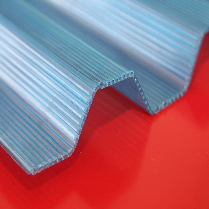 High Quality Colored Curve Polycarbonate Plastic Tiles