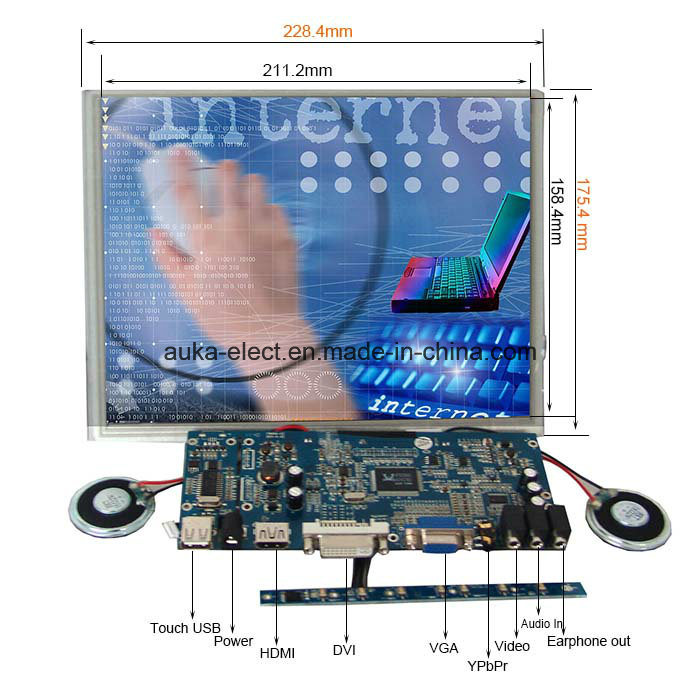 800*600 LCD Display USB Touchscreen 10.4 Inch SKD Monitor