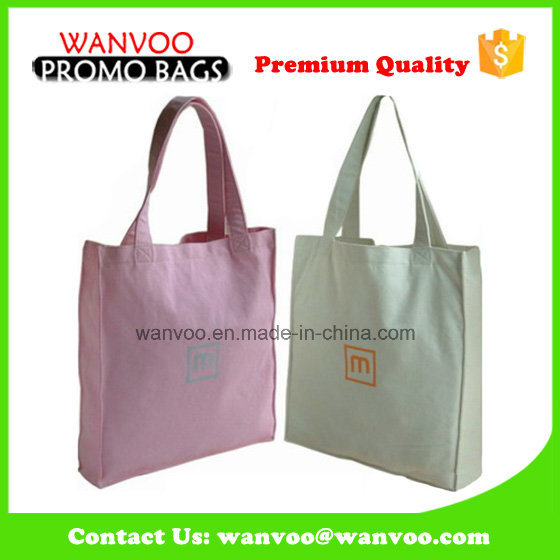 Promotional Eco Friendly Cotton Canvas Lady Tote Handbags