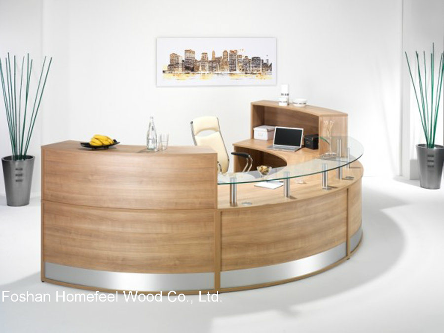 China creative stylish office reception counter table hf for Stylish office table