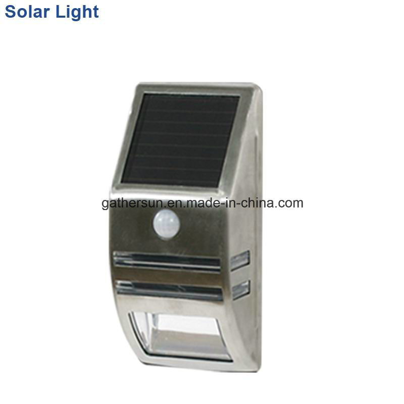 Stainless Steel Solar Induction Wall Lamp with Ce Approved